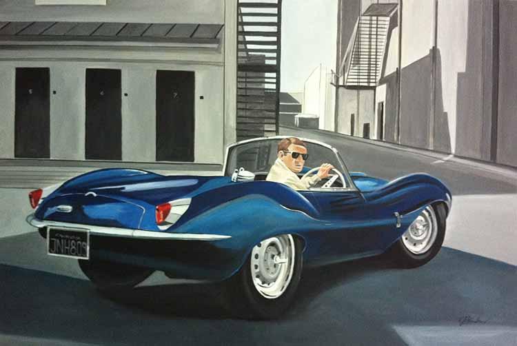 Steve McQueen   Blue E-Type