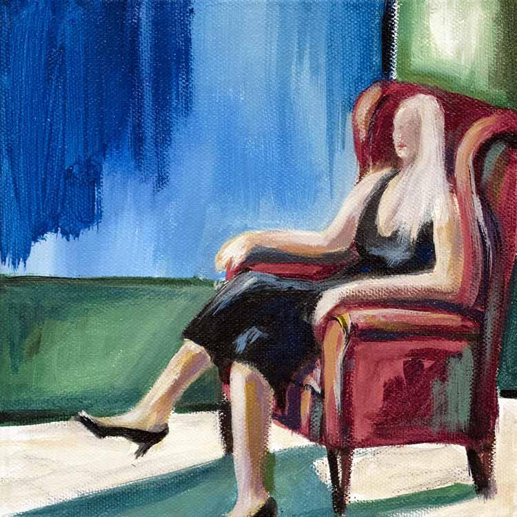 Die Frau im roten Sessel
