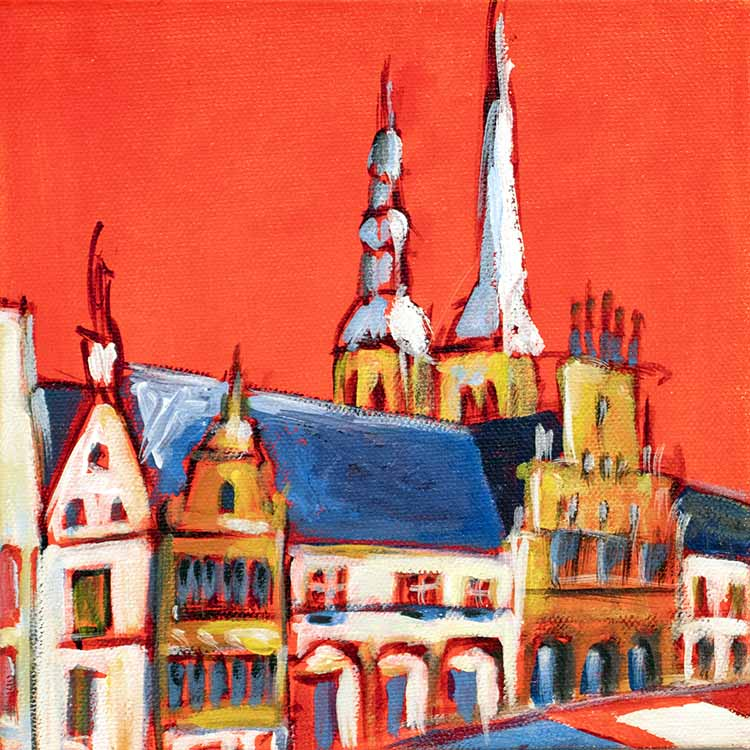 Marktplatz Lemgo rot
