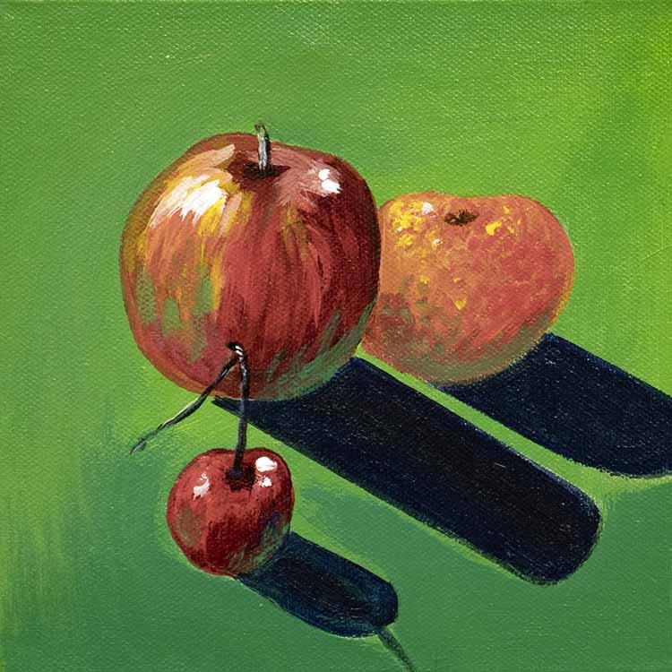 Obst vor Grün
