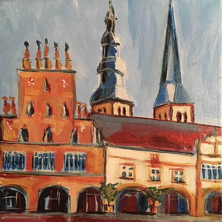 Rathaus und St. Nicolai