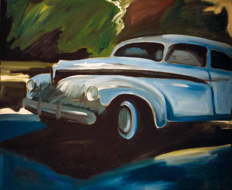Blauer Wagen